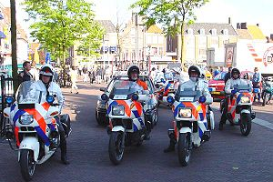 Local police motorcyclists