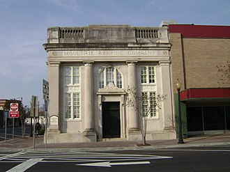 Moultrie Commercial Historic District - Image: Moultrie Banking Company Building (south face)