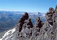 Mountain formation near Saranpaul