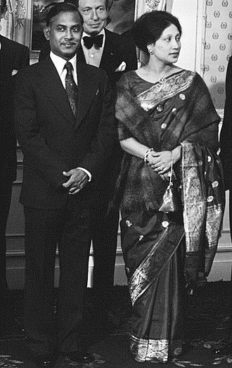 Ziaur Rahman - President Ziaur Rahman and First Lady Khaleda Zia on a state visit in the Netherlands in 1979 (in the background, Prince Claus)