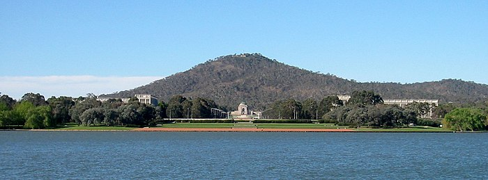 The Australian War Memorial at the base of Mount Ainslie