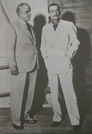 Elías Isaac Alippi - Argentine actors Enrique Muiño (left) and Elías Alippi (right)