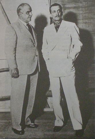 Elías Isaac Alippi - Argentine actors Enrique Muiño (left) and Elías Alippi (right)