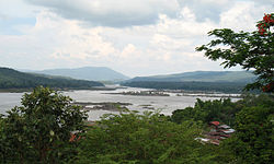 The Mun River joining the Mekong