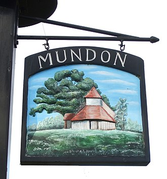Mundon - Image: Mundon sign