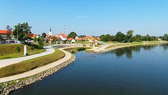 Međimurje County - Mur river at Mursko Središće