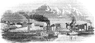 Muscatine, Iowa - Muscatine in 1865