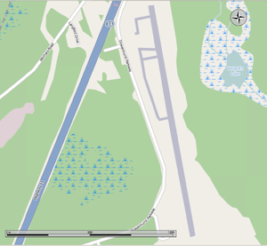 Muskoka Airport - Map of the runway.