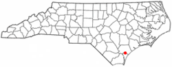 Location of Castle Hayne, North Carolina