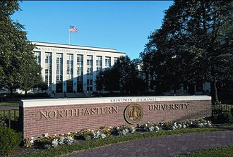 Northeastern University - Northeastern's historic Ell Hall on Huntington Avenue