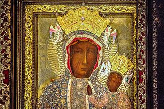 Black Madonna of Częstochowa - Image: NMP Czestochowska w koronie