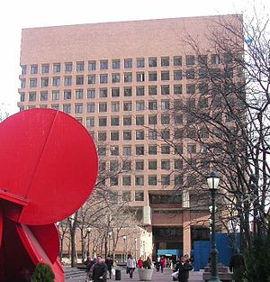 5 in 1 - The sculpture at 1 Police Plaza in 2006