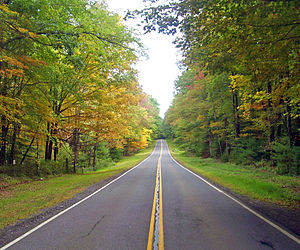 New York State Route 28A - NY 28A east of West Shokan, in New York City watershed land.