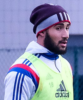 Fekir op een training van Olympique Lyon in 2015