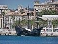 Nao Victoria in Malaga Port 2021 01.jpg