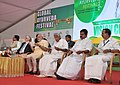 Narendra Modi at the Global Ayurveda Festival, in Kozhikode, Kerala. The Governor of Kerala, Justice (Retd.) P. Sathasivam, the Chief Minister of Kerala, Shri Oommen Chandy and other dignitaries are also seen.jpg
