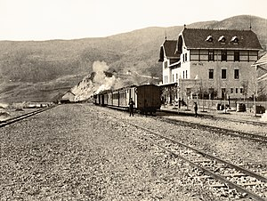 Uvac, Rudo - Uvac train station in 1906