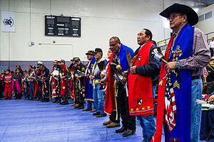 Gourd Dance - 13th Annual NCI New Year's Eve Sobriety Pow Wow and Gourd Dance at the Miyamura High School Gym in Gallup, NM.