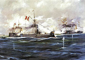 Peruvian Navy - Battle of Angamos, October 8, 1879.