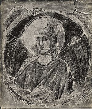Navicella (mosaic) - Image: Navicella mosaic Fragment in Vatican before restoration 2