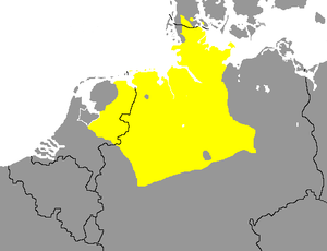 West Low German - Image: Nedersaksiese taalgebied