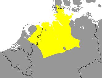 West Low German - Image: Nedersaksiese taalgebied