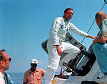 Neil and Command Module mockup on the deck of 'Retriever'.jpg