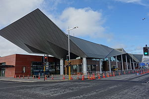 Public transport in Christchurch - The new Bus Interchange in August 2015