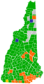 New Hampshire Republican Presidential Primary Election Results by Town, 2008.png