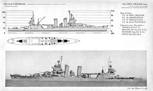 New Orleans-class cruiser - 1943 ONI identification image for the New Orleans class