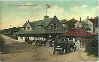 Newton station Souvochrome postcard.jpg