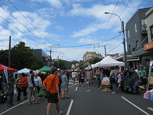 Newtown, New Zealand - The Newtown Festival in 2010 (looking up Riddiford Street)