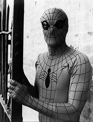 Spider-Man in other media - Nicholas Hammond as Spider-Man in 1977's Spider-Man film