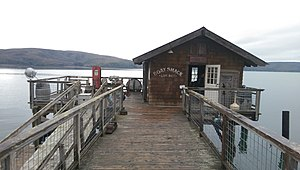 Nick's Cove, California - The boat shack at Nick's Cove is at the end of a 400-foot pier.