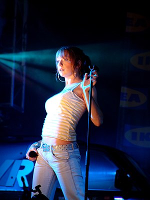 Nicola Roberts - Roberts performing with the group in 2005.