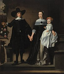 Portrait of a married couple with child