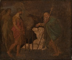 Odysseus Takes Counsel with Teiresias. From Homer´s Odyssey