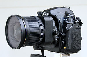 Full-frame digital SLR - Nikkor 24 mm PC-E tilt-shift lens on Nikon D700 full-frame DSLR camera