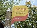 Niton Buddle Inn bus stop flag.JPG