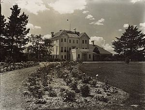 Government House, Canberra - Government House as viewed from the left side in 1927.