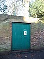 No mystery about what's behind THIS green door - geograph.org.uk - 1111910.jpg