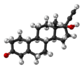 Norethisterone molecule ball.png