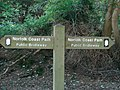 Norfolk Coastal Path Waymarker - geograph.org.uk - 246642.jpg