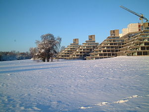 Denys Lasdun - Norfolk Terrace halls of residence at the University of East Anglia