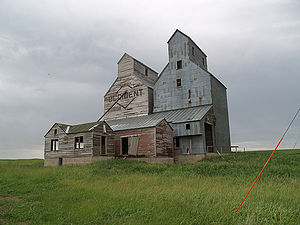 Almont, North Dakota - An old grain elevator in Almont