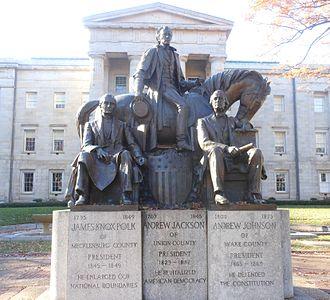 North Carolina State Capitol - Image: North Carolina Presidents Statue