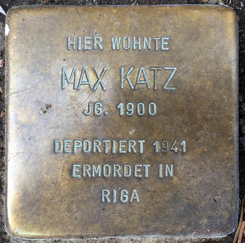 Northeim Stolperstein Max Katz.jpg