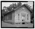 OBLIQUE OF FAand-199;ADE AND LEFT ELEVATION SCALED - Cadentown Rosenwald School, Caden Lane, Lexington, Fayette County, KY HABS KY-288-4.tif