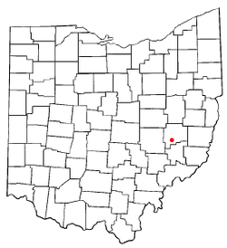 Location of Byesville, Ohio