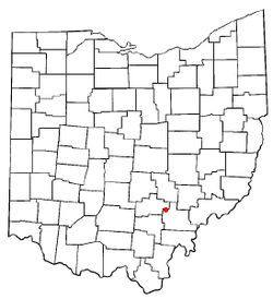 Location of Nelsonville, Ohio
